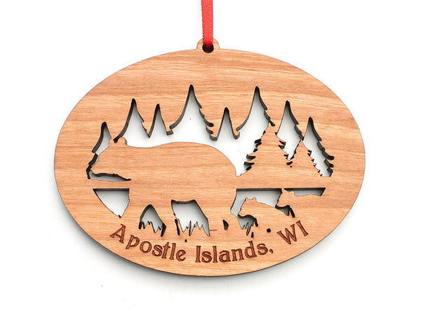 Apostle Island NLS NW Bear Cubs Ornament - Nestled Pines