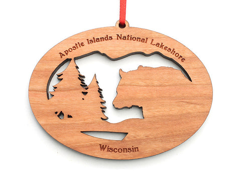 Apostle Island NLS NW Bear Ornament - Nestled Pines
