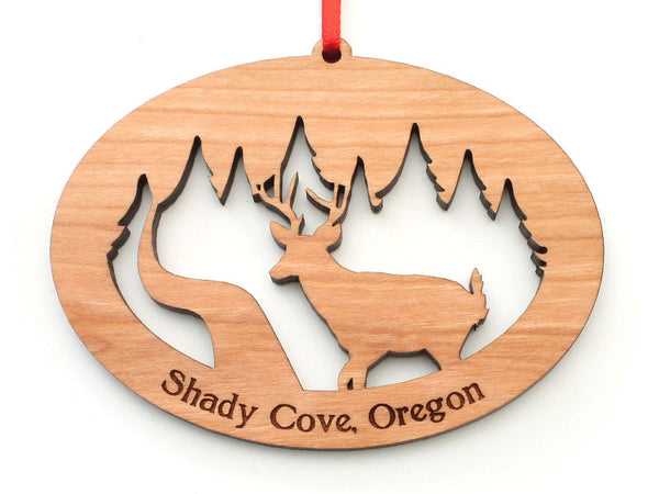 Shady Cove Pharmacy Deer Oval Ornament