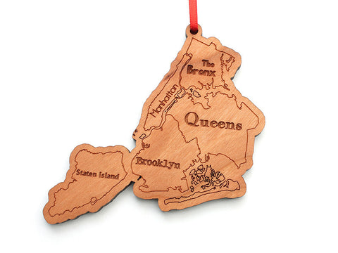 NYC Boroughs Ornament - Nestled Pines