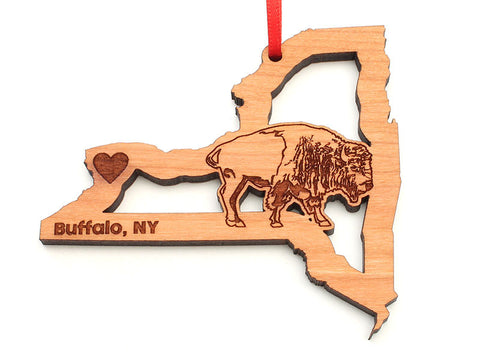 Buffalo New York State Shape Cut Out Ornament