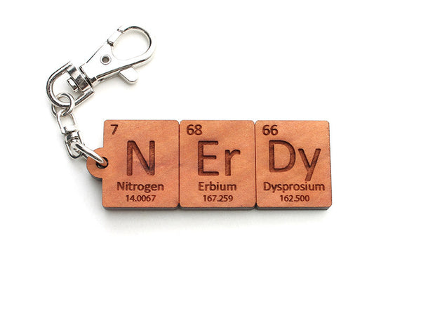 Nerdy Periodic Table Element Key Chain - Nestled Pines