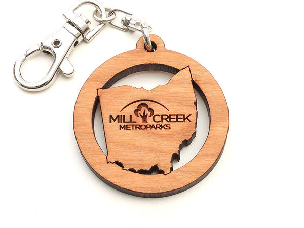 Mill Creek Ohio Logo Key Chain
