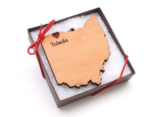 Taste of Toledo Ohio Ornament - Nestled Pines