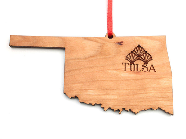 Tulsa Art Deco Museum Oklahoma Engraved Ornament - Nestled Pines