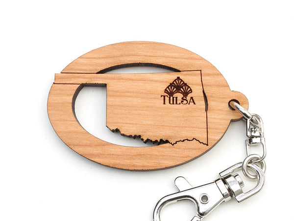 Tulsa Art Deco Museum Oklahoma Key Chain - Nestled Pines