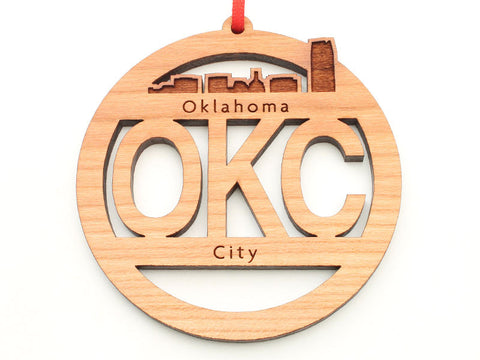 Oklahoma City OKC Circle Ornament