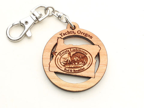 Heceta Lighthouse Yachats Oregon State Key Chain