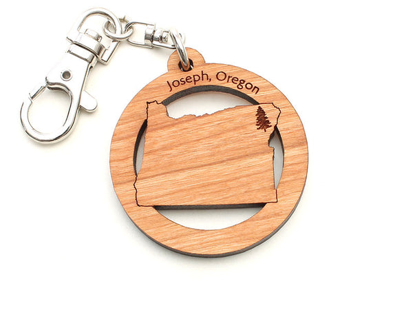 Copper Creek Joseph Oregon State Shape Key Chain