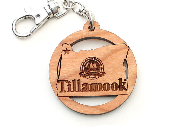 Tillamook Oregon State Logo Key Chain