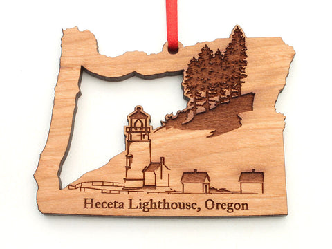 Heceta Lighthouse Oregon State Shape Lighthouse Insert Ornament