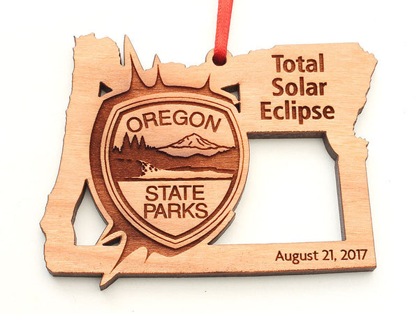 Oregon State Parks Solar Eclipse State Shape Ornament