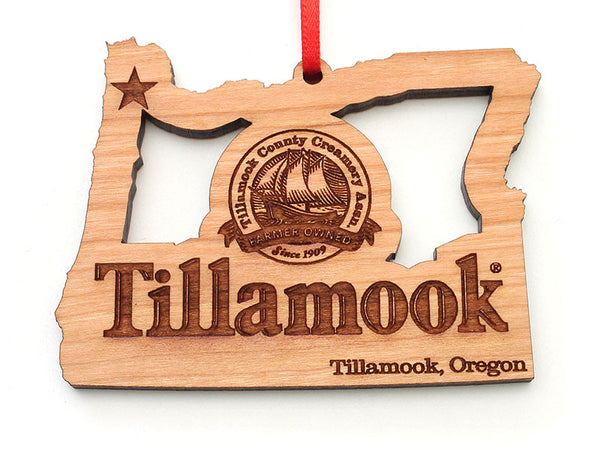 Tillamook Oregon State Logo Cut Out Ornament