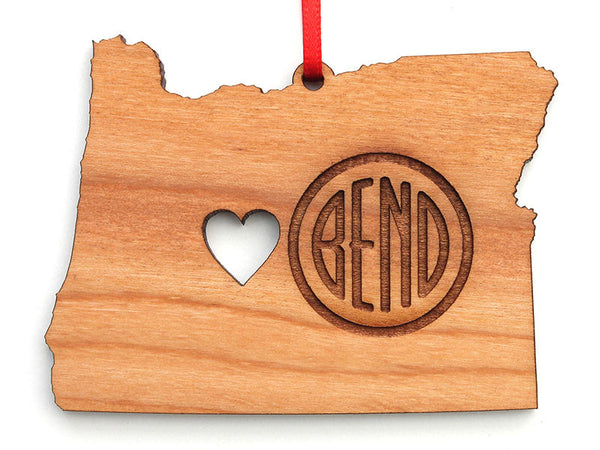 Simply Bend Oregon Logo Engraved Ornament