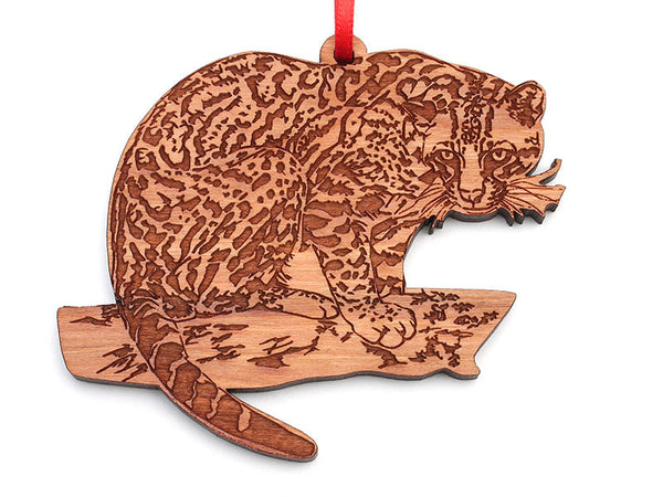 Carolina Tiger Rescue Ocelot Ornament