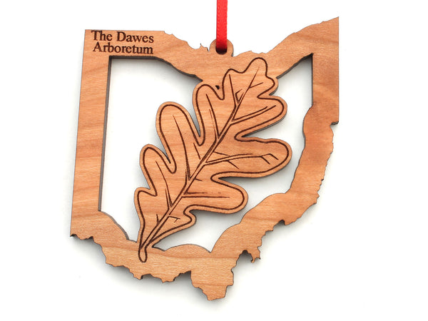 The Dawes Arboretum Ohio State White Oak Leaf Insert Ornament