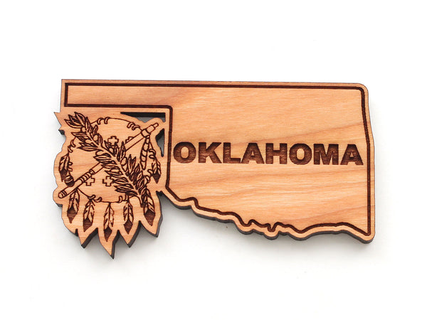 Oklahoma State Outline Magnet