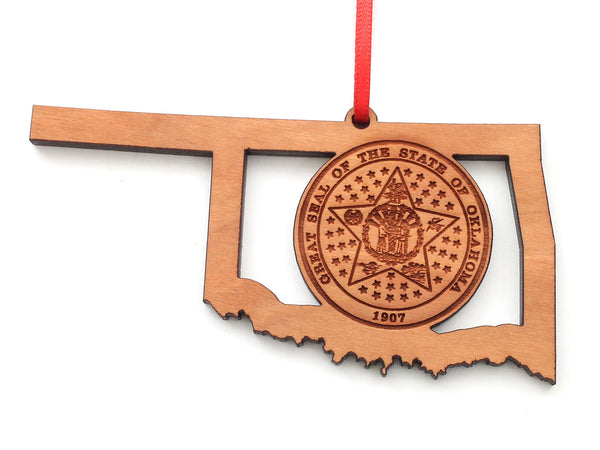 Oklahoma Seal State Insert Ornament