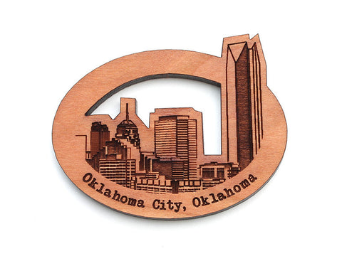 Oklahoma City Skyline Oval Magnet