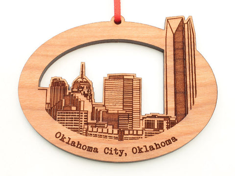 Oklahoma City Skyline Oval Ornament