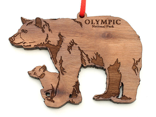 Olympic National Park Black Bear with Cub Ornament