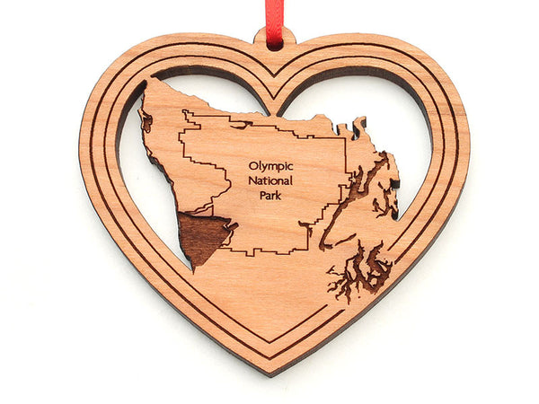 Port Book and News Olympic NP Heart Ornament