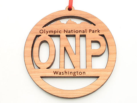 Olympic National Park ONP Circle Text Ornament