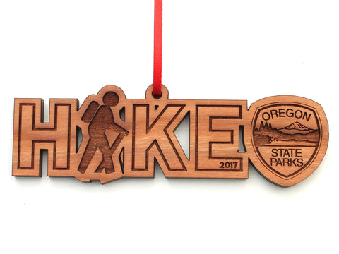 Oregon State Parks Hike Text Ornament
