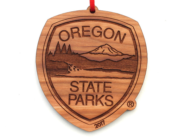 Oregon State Parks Shield Logo Ornament with Year