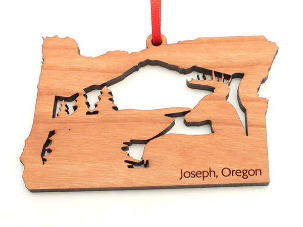 Copper Creek Oregon State Shape with Deer Insert Ornament