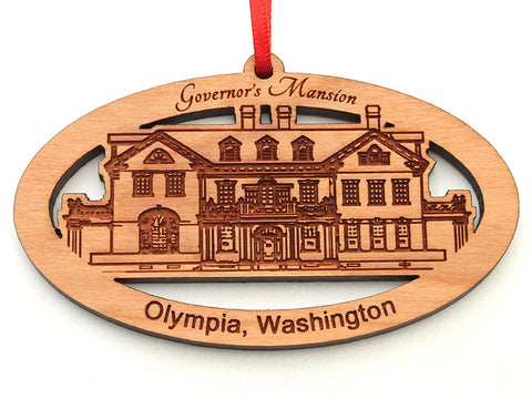 Olympia Washington Governor's Mansion Oval Custom Ornament Alt