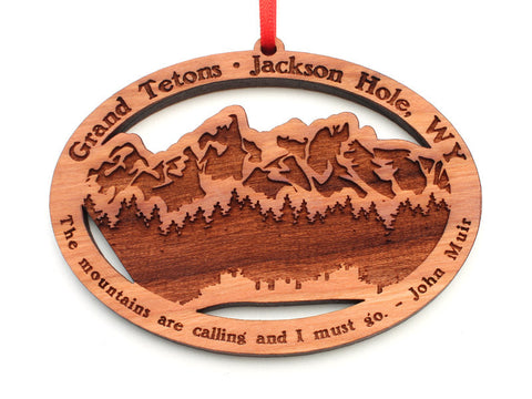 Wyoming Outfitters Grand Tetons Oval Ornament Alt