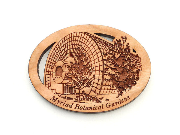 Myriad Botanical Gardens Greenhouse Oval Custom Magnet