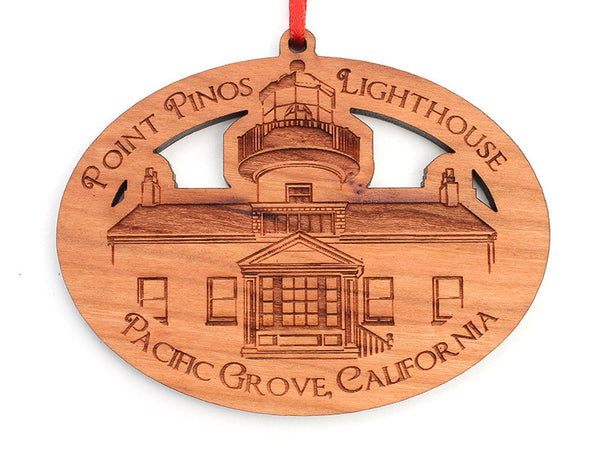 Point Pinos Lighthouse Oval Ornament - Nestled Pines
