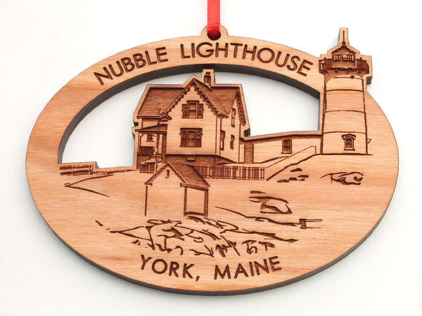 Nubble Lighthouse Custom Oval Ornament
