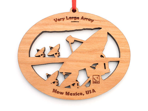 Very Large Array Oval Ornament - Nestled Pines