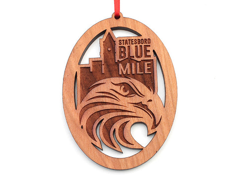 Oval Statesboro Blue Mile Custom Ornament - Nestled Pines