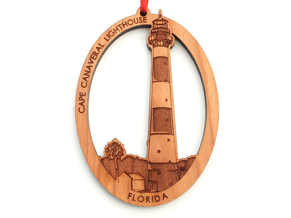 Cape Canaveral Lighthouse Oval Ornament - Nestled Pines