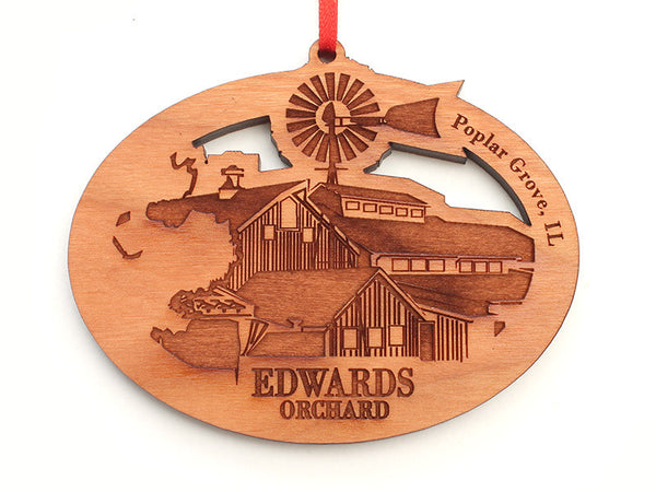 Edwards Orchard Custom Farm Oval Ornament - Nestled Pines