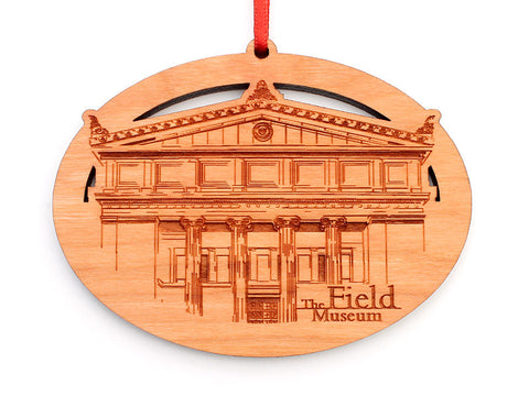 Field Museum Building Façade Oval Ornament - Nestled Pines