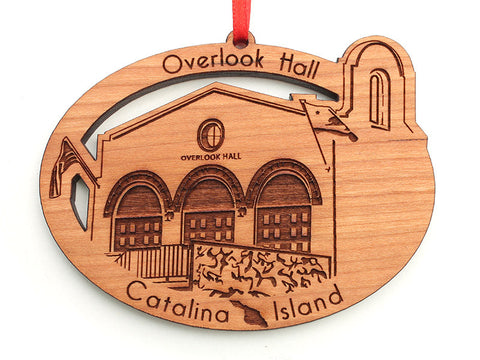 Overlook Hall Custom Wood Ornament - Nestled Pines
