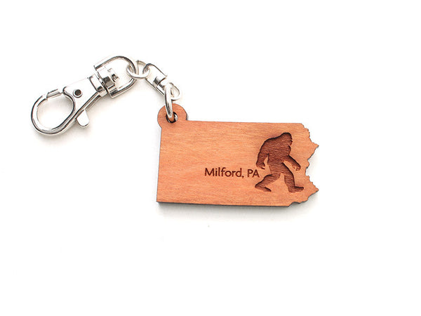 Milford Craft Show Pennsylvania Key Chain ND Sasquatch - Nestled Pines