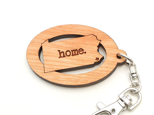 Center for Art in Wood Pennsylvania Home Key Chain with Star