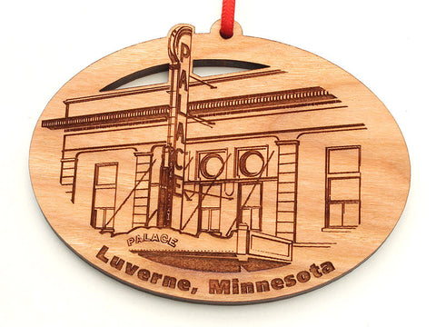 Rock County Historical Society Palace Theater Oval Custom Ornament