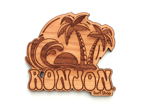 Ron Jon Surf Shop Palm Tree Wave Magnet