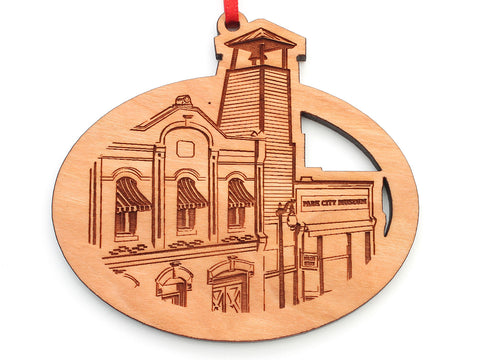 Park City Museum City Scene Oval Ornament ALT
