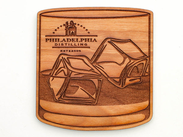 Philadelphia Distilling Low-ball Glassware Coaster Set of 4
