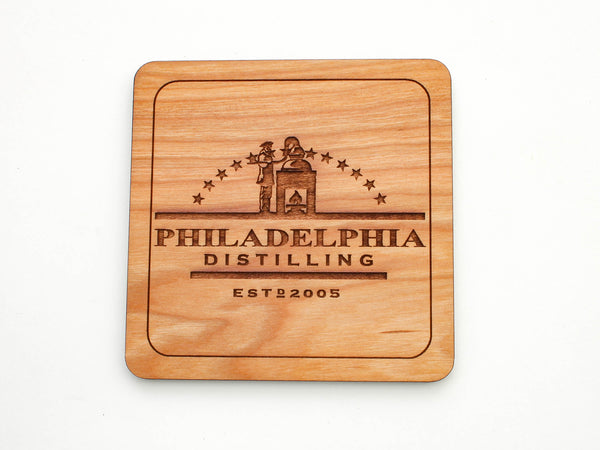 Philadelphia Distilling Logo Coaster Set of 4