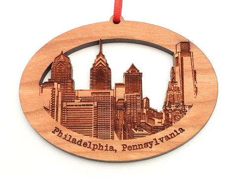 Philadelphia City Skyline Oval Ornament