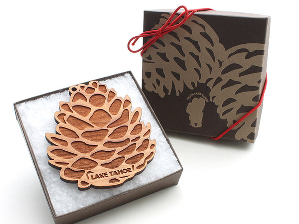 Lake Tahoe Pine Cone Ornament - Nestled Pines - 2